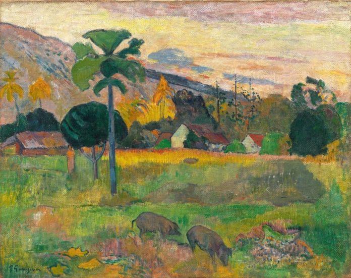 Paul Gauguin (1848-1903), Haere Mai, 1891, huile sur toile de jute, 72,5 x 92 cm Solomon R. Guggenheim Museum, New York, Thannhauser Collection, don Justin K. Thannhauser, 78.2514.16