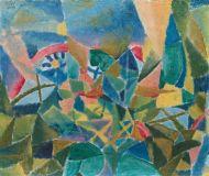 Paul Klee (1879-1940), Parterre de fleurs (Blumenbeet), 1913, huile sur carton, 28,2 x 33,7 cm Solomon R. Guggenheim Museum, New York, succession de Karl Nierendorf, acquisition, 48.1172.109Anciennement en consignation dans les Paul Klee (1879-1940), Parterre de fleurs (Blumenbeet), 1913, huile sur carton, 28,2 x 33,7 cm Solomon R. Guggenheim Museum, New York, succession de Karl Nierendorf, acquisition, 48.1172.109Anciennement en consignation dans les galeries Thannhausergaleries Thannhauser
