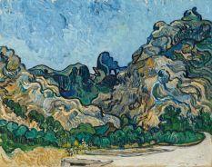 Vincent van Gogh (1853-1890), Montagnes à Saint-Rémy, Saint-Rémy-de-Provence, juillet 1889, huile sur toile, 72,8 x 92 cm Solomon R. Guggenheim Museum, New York, Thannhauser Collection, don Justin K. Thannhauser, 78.2514.24