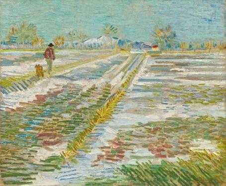 Vincent van Gogh (1853-1890), Paysage enneigé, Arles, février 1888, huile sur toile, 38,3 x 46,2 cm Solomon R. Guggenheim Museum, New York, Thannhauser Collection, don Hilde Thannhauser, 84.3239