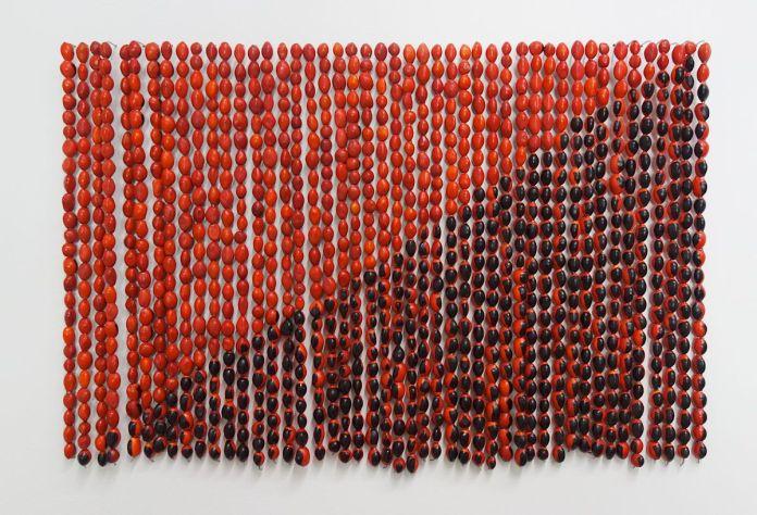 Rometti Costales - Le drapeau de l'Anarquismo Mágico, 2013 - Photo En revenant de l'expo !