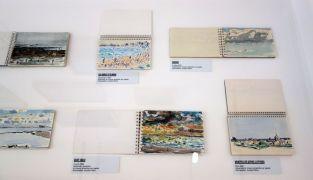 Vincent Bioulès - Etudes, carnets de dessins et pochades - Chemins de traverse - Le paysage, cette joie fondatrice au Musée Fabre