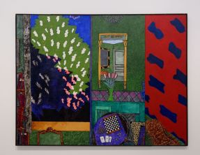 Vincent Bioulès - Le Viallat dans la maison ou les trois as, 1981 - Chemins de traverse - Habiter la peinture au Musée Fabre 601