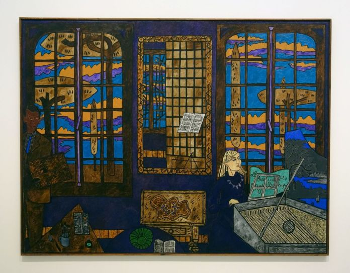 Vincent Bioulès - Les barricade mystérieuses, 1983 - Chemins de traverse - Habiter la peinture au Musée Fabre