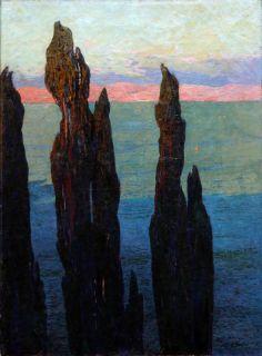 Gustave Fayet, Les cyprès bleus (titre d'usage), 1902