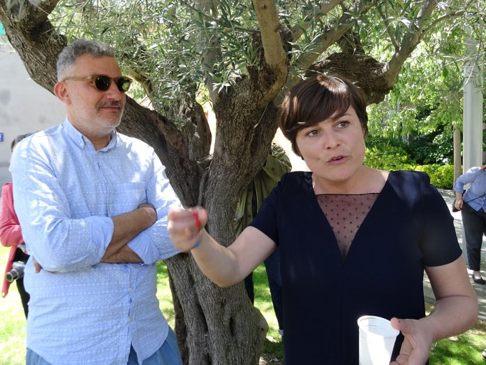 Sandra Patron et Bruno Peinado au MRAC