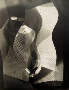 László Moholy-Nagy / Arthur Siegel Photogram 1946 Tirage sur papier aux sels d'argent