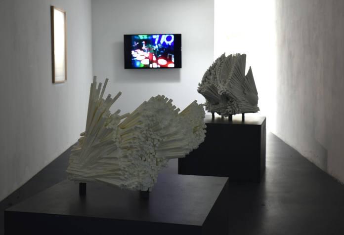Paul Destieu - Archives d'un frappe - vue de l'exposition à Art-cade Galerie des grands bains douches, Marseille - Photos Luce Moreau