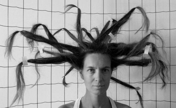 Jeanne Susplugas - Hair (Tribute to Gordon Matta-Clark) 2010-2018 40x60cm Atelier Tchikebe Sérigraphie sur Arches BFK Rives 250g/m2