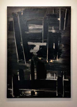 Pierre Soulages - Peinture 162 X 114 cm, 27 août 1958 - Musée Fabre - Salle 46b
