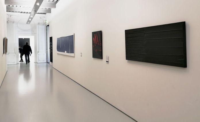 Soulages à Montpellier au Musée Fabre - Couloir au deuxième étage