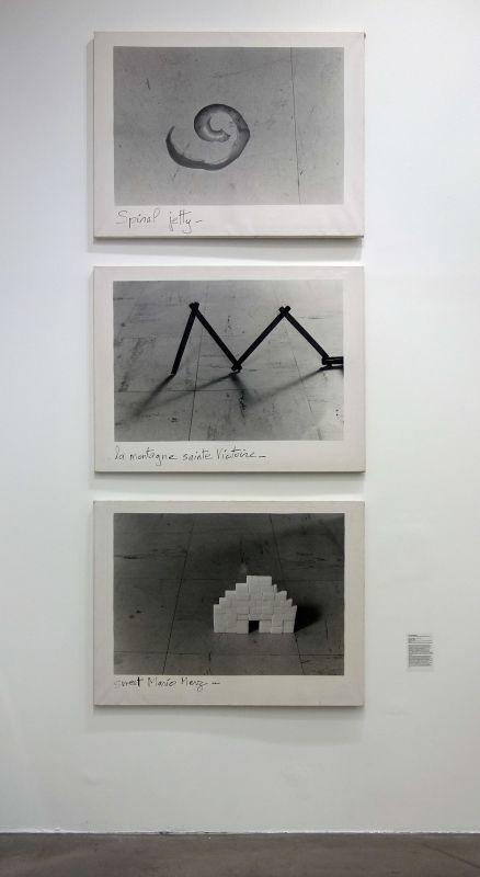 Joachim Mogarra - La montagne Sainte-Victoire, 1985 - Spiral Jetty, 1985 - Sweet Merz, 1985 - Photographie et documents, 1983-2018 au Frac Paca