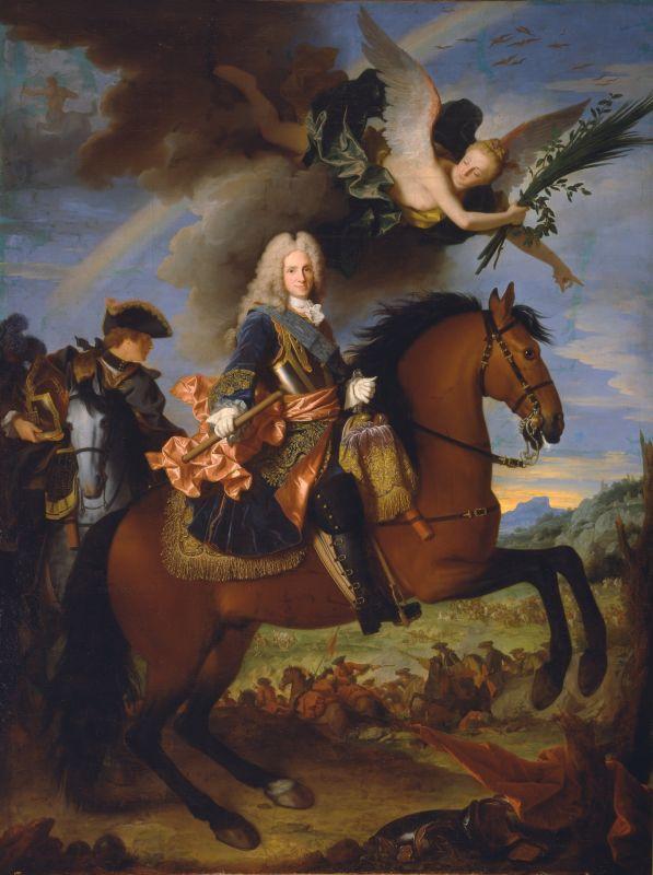 Jean Ranc (Montpellier, 1674 – Madrid 1735), Portrait équestre de Philippe V, roi d'Espagne, vers 1723