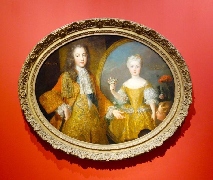 Attribué à Alexis Simon Belle, L'Amour présentant à Louis XV le portrait de l'infante Marie Anne Victoire d'Espagne, 1724