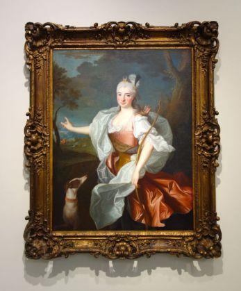 Jean Ranc - Portrait de Renée Tranchant du Tret en Diane, Vers 1710-1715