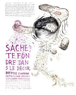 Mathias Poisson, Vision rupestre N°21, encres végétales, 43 x 53 cm, Châteauvert, 2020 - Courtesy de l'artiste - Centre d'Art de Châteauverta