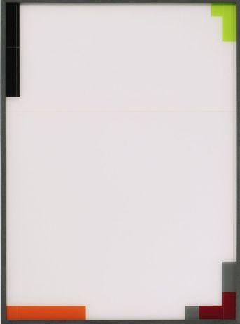 Moon-Pil Shim - Sans titre, 2017, 102x75x4.3 cm, technique mixte (peinture sous plexiglas) Galerie AL/MA.