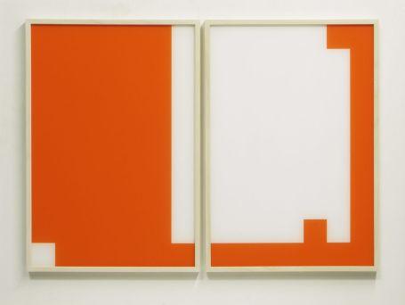 Moon-Pil Shim - Sans titre, 2019, diptyque, 75x52x3.5 cm, technique mixte (peinture sous plexiglas) - Galerie AL/MA