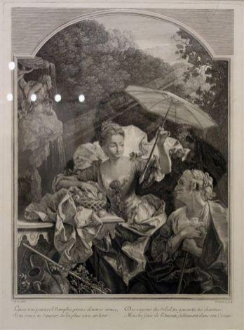 Nicolas Édelinck - D'après Jean Ranc Pomone et Vertumne