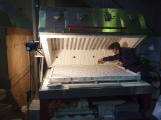 Arnaud Vasseux dans l'atelier, 2012 - Photo Cirva