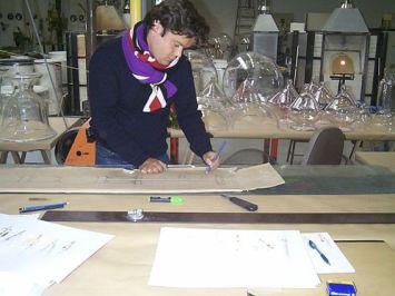 Jean-Michel Othoniel dans l'atelier, 2002 - Photo Cirva