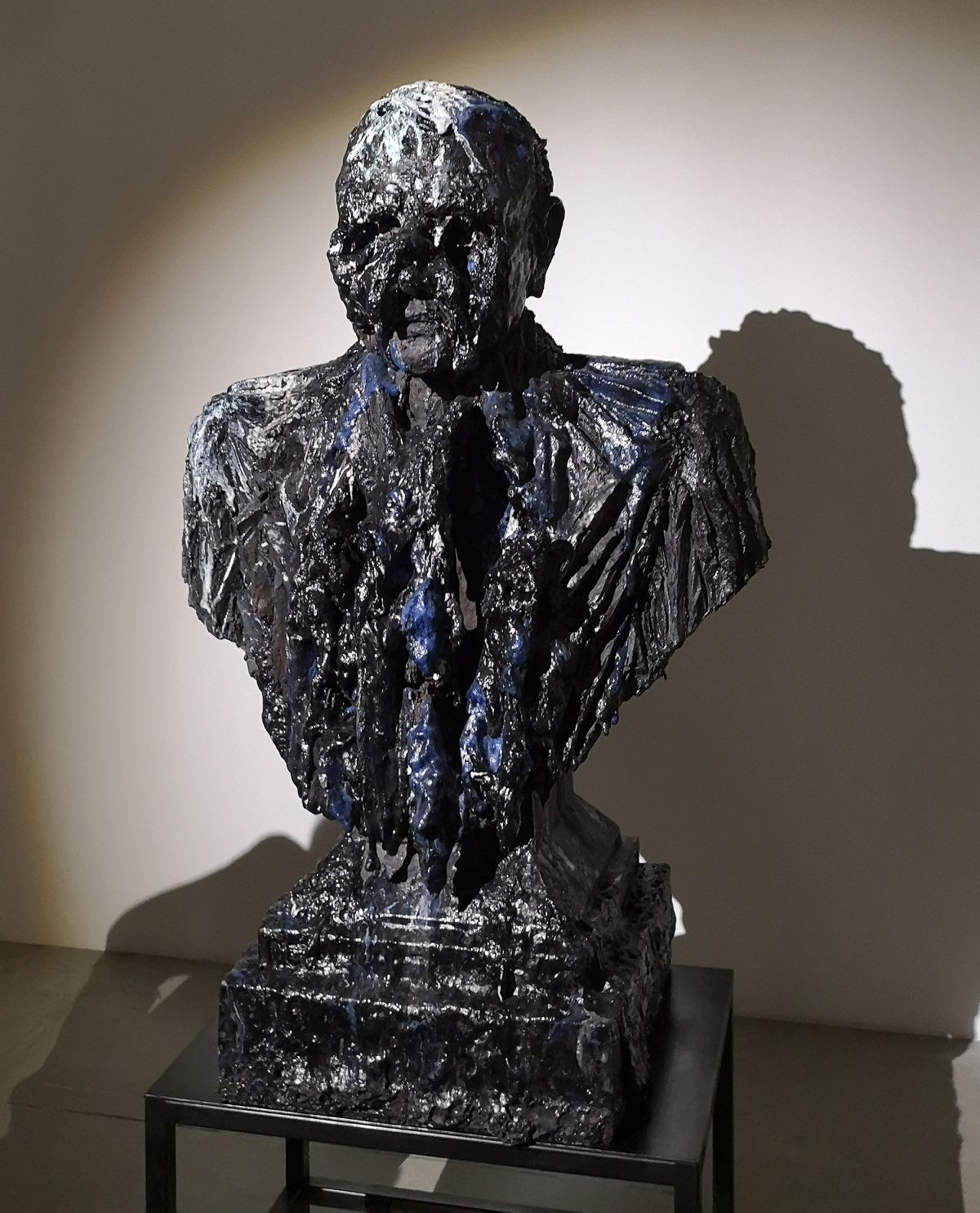 Anne Wenzel - Damaged Goods (Bust; Large- Blue- White), 2013 - Street Trash - Friche La Belle de Mai
