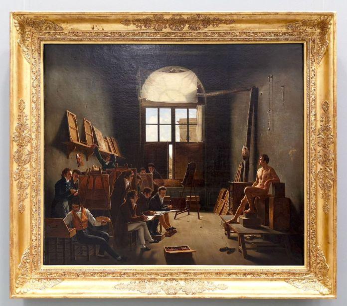 Charles Matet - L'atelier des élèves de David, 1814 - Art & Anatomie - Musée Fabre