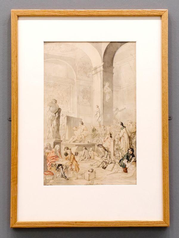 Charles Natoire - Académie de peinture, 1745 - Art & Anatomie - Musée Fabre