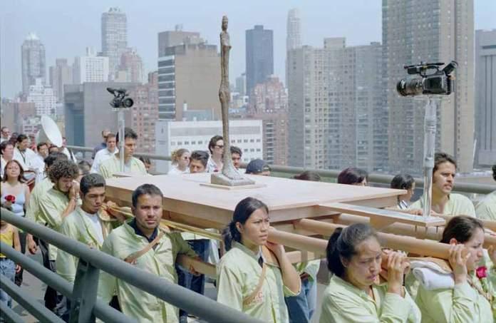 Francis Alÿs, Modern Procession, 2002. © 2020 Francis Alÿs