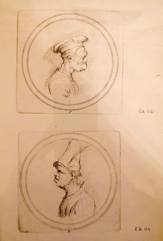 Recueil de testes de caractère & de charges, dessinées par Leonard de Vinci... et gravées par M. le C de C (Comte de Caylus), 1730 - Art & Anatomie - Musée Atger