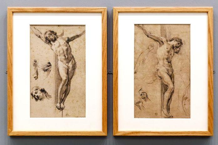Simon Vouet, Deux étude pour un Christ en croix, 1èere moitié du XVIIe siècle - Art & Anatomie - Musée Fabre
