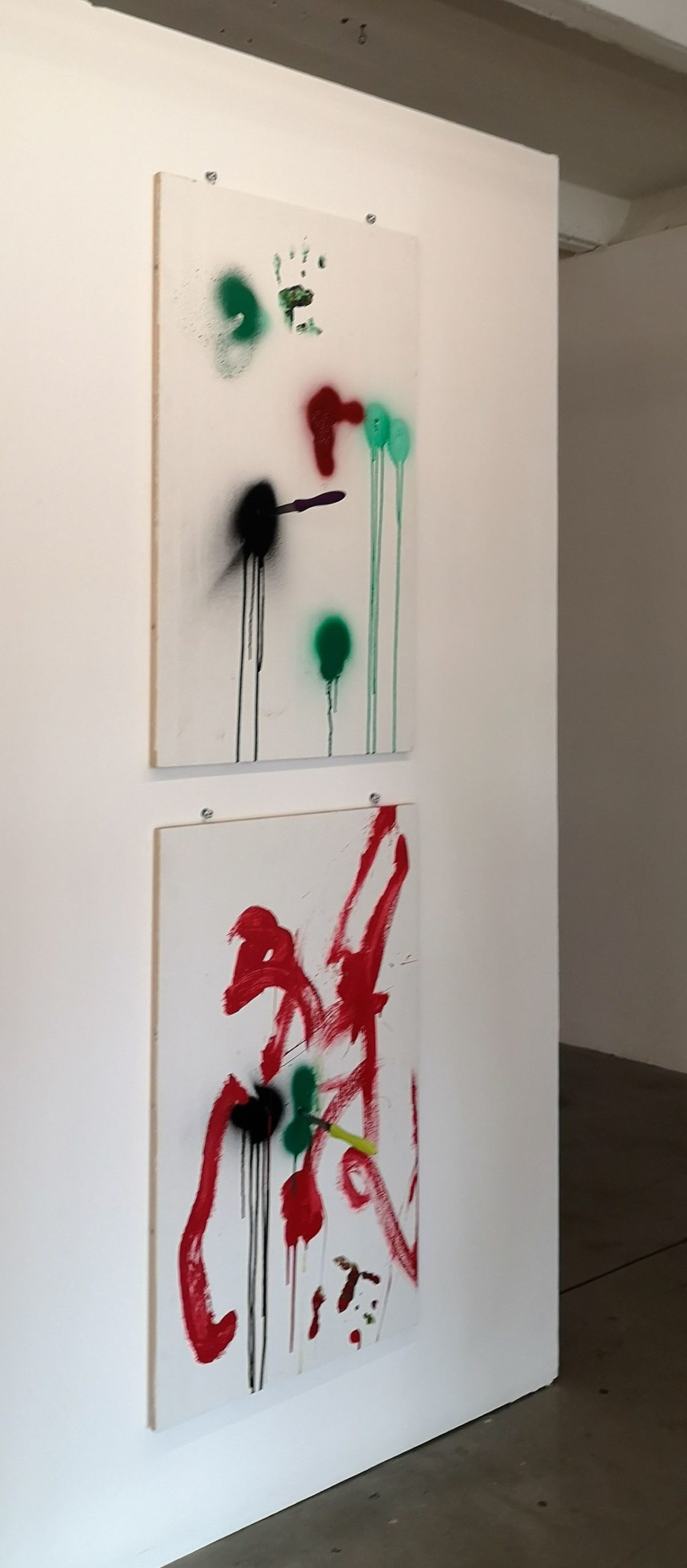 Julien Blaine - PeintureS auX couteauX - Le Grand Dépotoir à la Friche Le Belle de Mai