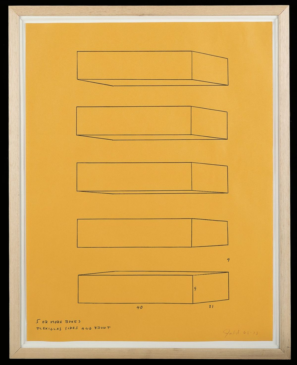 Donald Judd, 5 or more boxes, 1968 - 1973