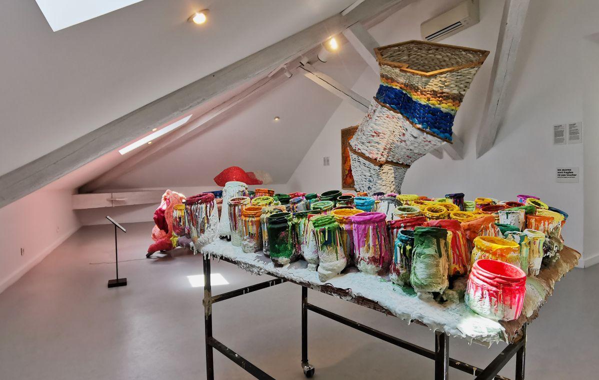 Recyclage/Surcyclage à la Villa Datris - Éloge de la lenteur - Vue de l'exposition
