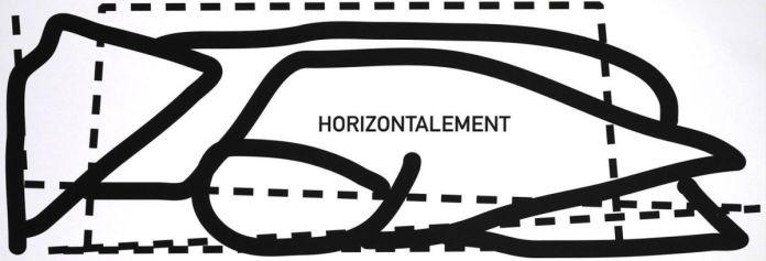 Claude Closky, Horizontalement, Verticalement , Sérigraphie sur Arches BFK Rives 300 gr (diptyque), 106 x 37,5 cm & 37,5 x 106 cm, 2019 - Atelier Tchikebe