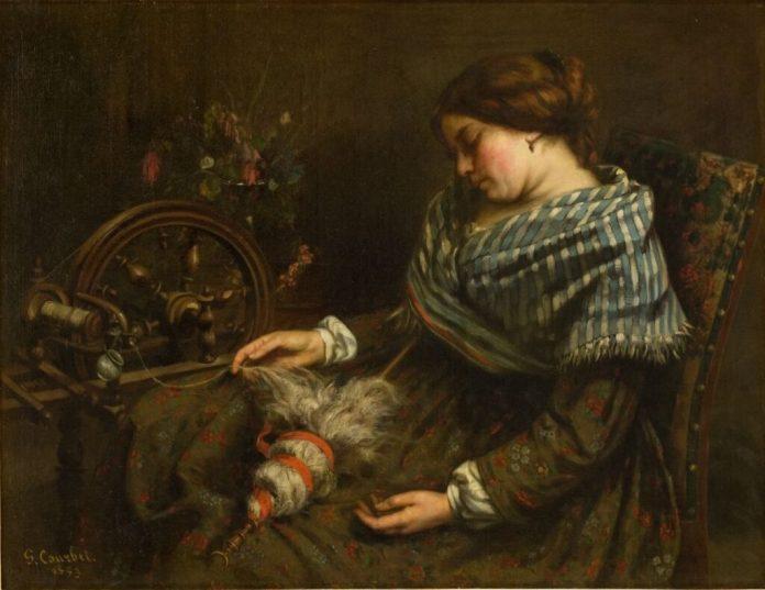 Gustave Courbet - La Fileuse endormie, 1853