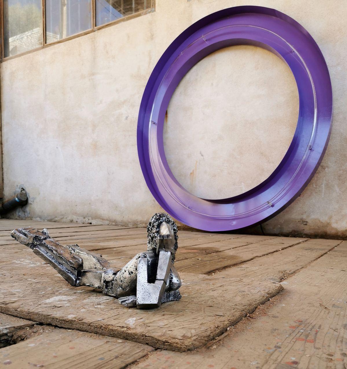 Olivier Millagou - Julie, 2020 et O violet, 2020 - «Winter A-Go-Go» au Chantier Naval Borg - PAC 2020 - Marseille