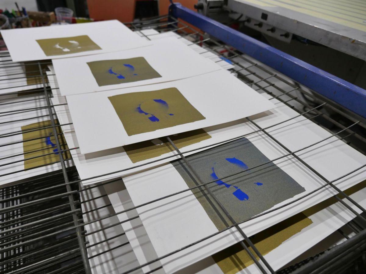 gethan&myles - Coffret de sérigraphies -Impression en cours à l'atelier Tchikebe