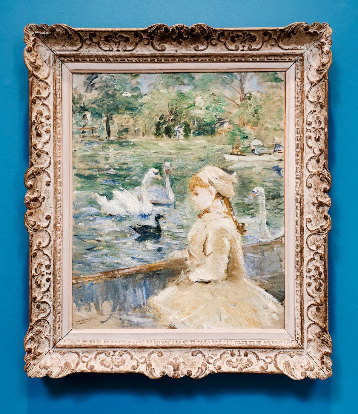 Berthe Morizot - Sur le lac, 1884 - Paul Valéry et les peintres - Le cercle familial - Musée Paul Valéry à Sète