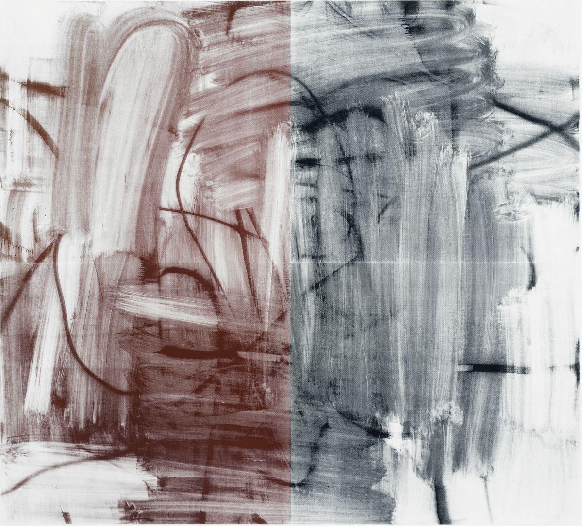 Christopher Wool – Untitled, 2009 - 00s. Collection Cranford - les années 2000 au MO.CO. Montpellier Encre de sérigraphie sur le lin. 243,8 x 269,2 cm. © Christopher Wool; courtesy de l'artiste et Luhring Augustine, New York