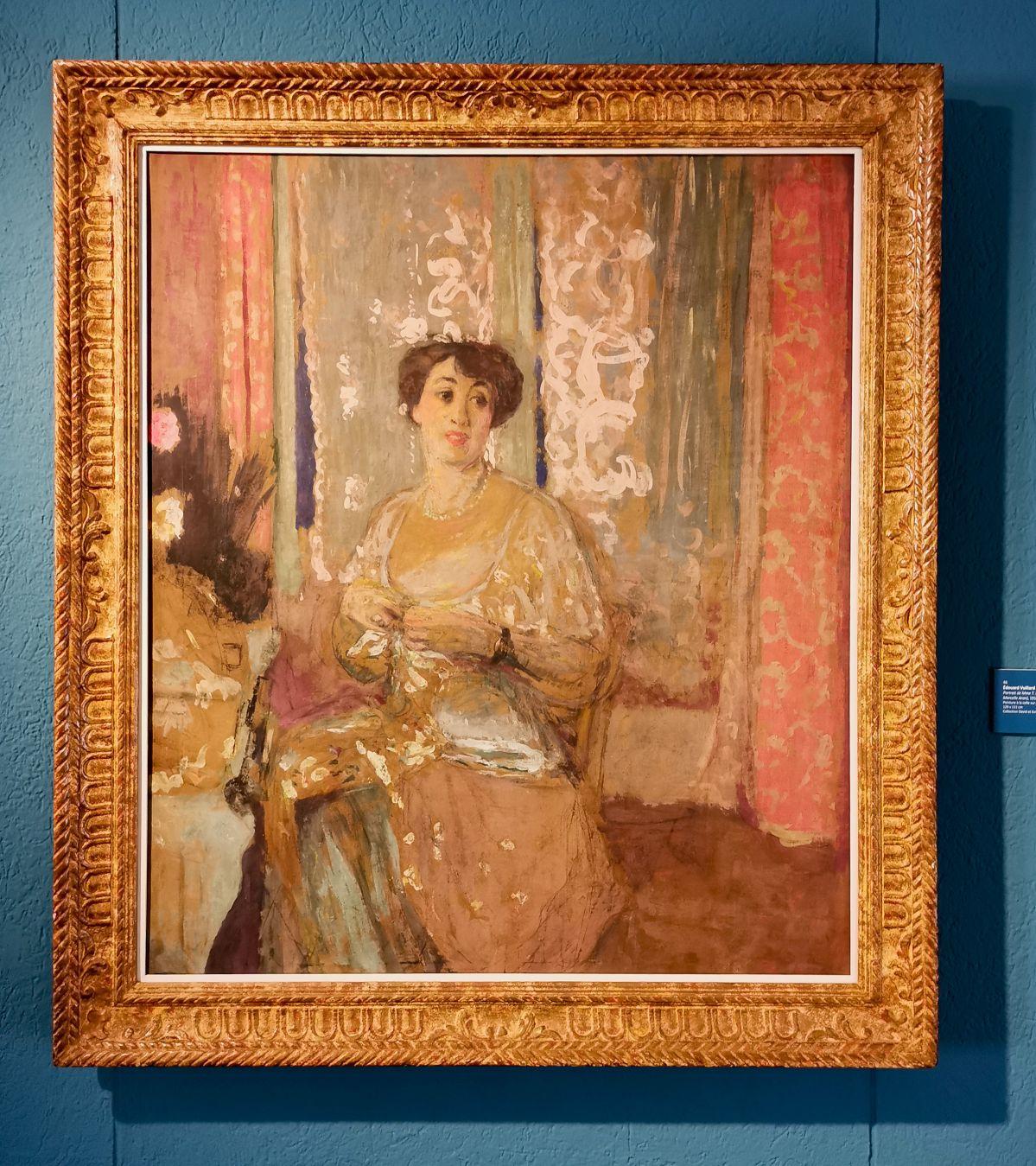 Edouard Vuillard - Portrait de Madame T Bernard, 1913 - Paul Valéry et les peintres - Les peintres fréquentés - Musée Paul Valéry à Sète