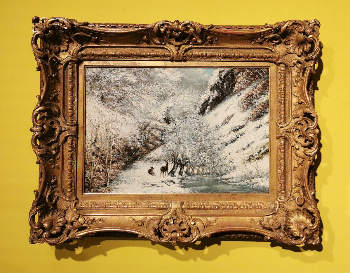 Gustave Courbet - Paysage de neige, c 1866 - Paul Valéry et les peintres - Autres regards de Valéry sur les peintres depuis sa jeunesse - Musée Paul Valéry à Sète