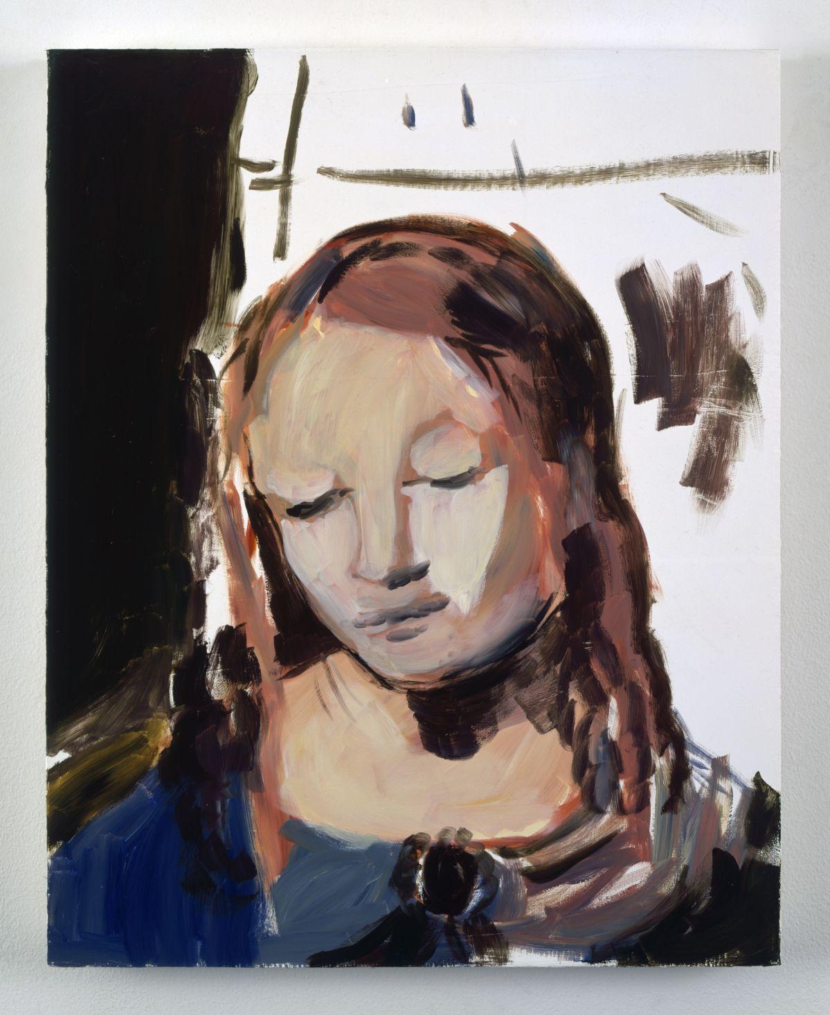 Karen Kilimnik - The angel of the Plague, 2005 - 00s. Collection Cranford - les années 2000 au MO.CO. Montpellier Huile hydrosoluble sur toile. 50,8 x 40,6 cm. © Karen Kilimnik, courtesy 303 Gallery, New York