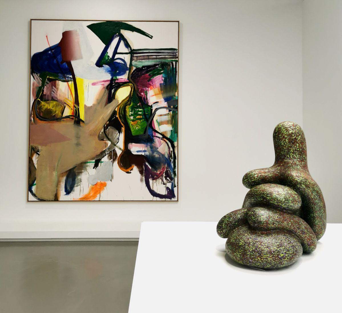 Albert Oehlen - 3 Amigos I, 2000-2006 et Ken Price - Lazo, 2006 - 00s - Collection Cranford - les années 2000 au MOCO Montpellier