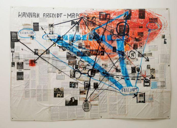 Thomas Hirschhorn & Marcus Steinweg - Hannah Arendt - Map, 2003 - 00s - Collection Cranford - les années 2000 au MOCO Montpellier