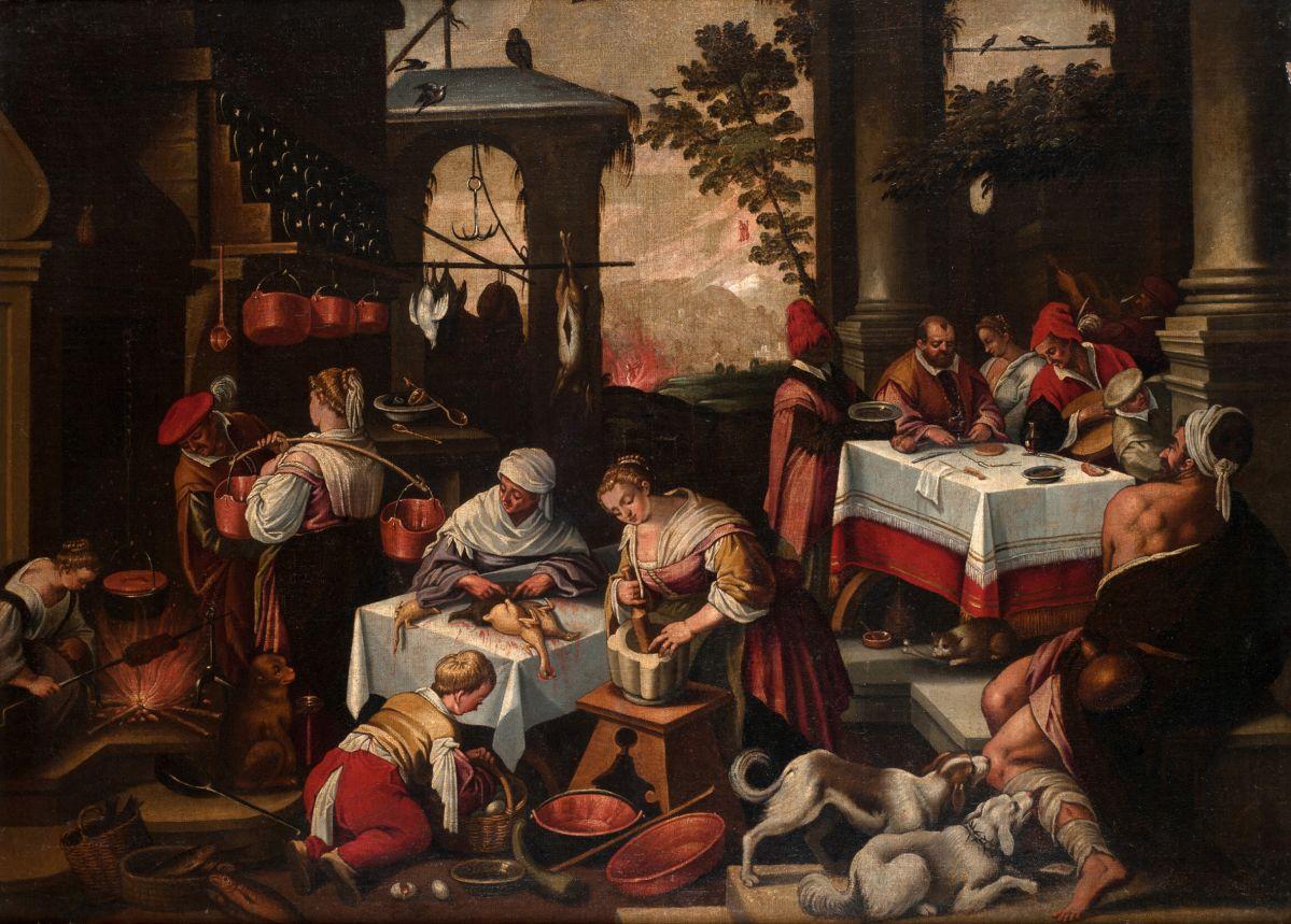 Bassano del Grappa, copie d'après Jacopo Bassano, Lazare et le mauvais riche, XVIIe siècle © musée du Mans