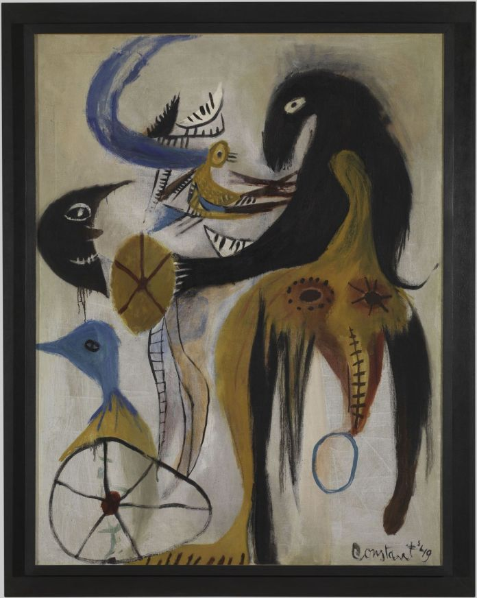 Constant, L'animal sorcier, 1949 © Adagp, Paris, 2020 ; photo © Centre Pompidou, MNAM-CCI, Dist. RMN-Grand Palais Georges Meguerditchian