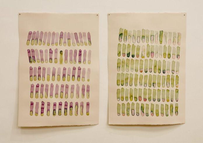 Geoffrey Badel - Sans titre I et II (empreintes), 2020 - Tempestaire à la Faculté d'Education de Montpellier