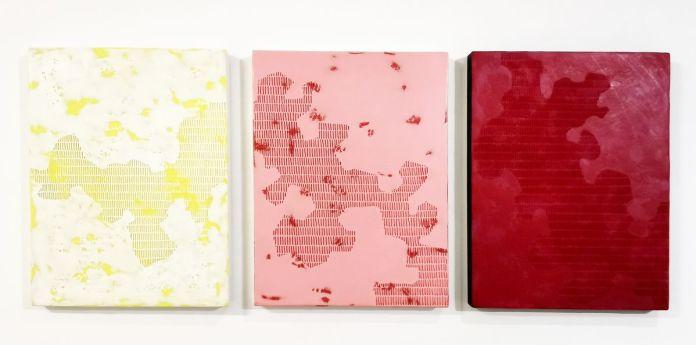 Pascale Hugonet - Épigraphie 20 - 21 et 24, 2019 - Traces à la N5 Galerie - Montpellier