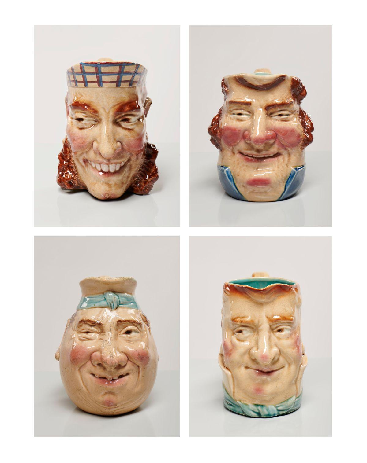 Pichets. Céramique glaçurée. France, Moselle, Sarreguemines. Fin du XIXe — début du XXe siècle. Mucem © Mucem / Marianne Kuhn